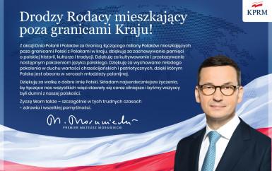 Życzenia Prezesa Rady Ministrów RP z okazji Dnia Polonii i Polaków za granicą