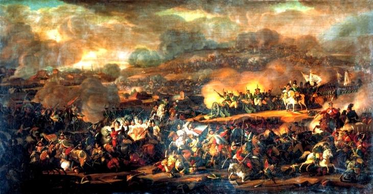 Bitwa pod Lipskiem. Obraz Władimira Moszkowa