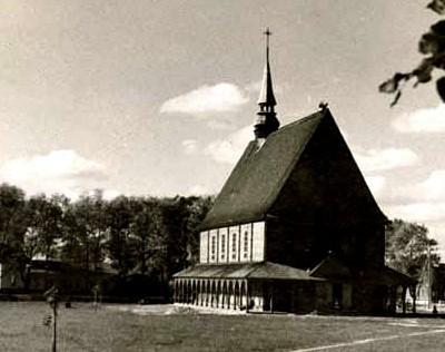 Kościół. Lata 1935-39. Foto. J.Błaziński.