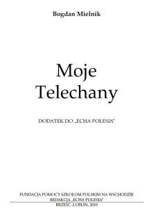 """Bogdan Mielnik – """"Moje Telechany"""""""