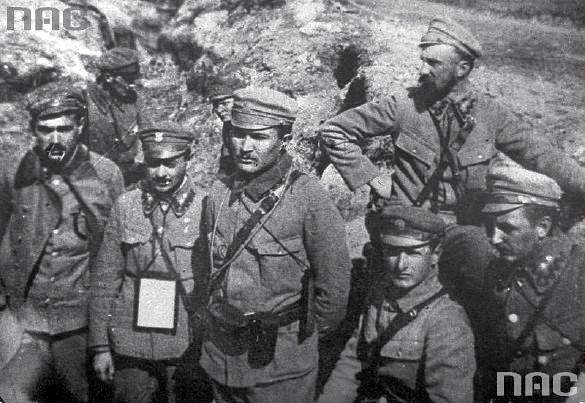 I Brygada Legionów. Pierwszy z prawej u góry - Kazimierz Młodzianowski