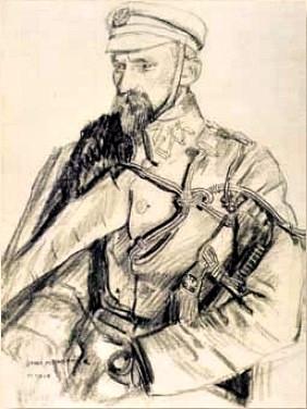 Portret Kazimierza Młodzianowskiego z 1916 r. autorstwa Józefa Mechoffera