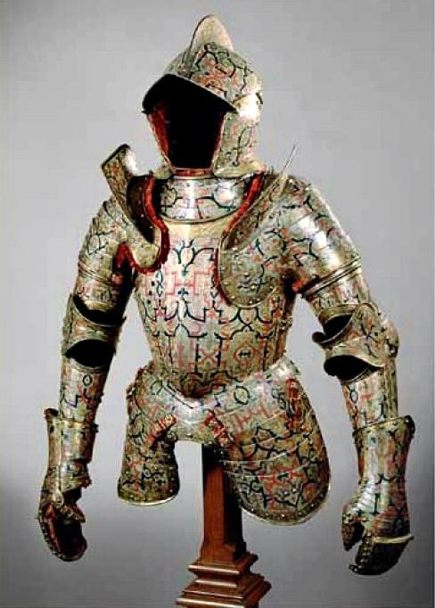 Turniejowa zbroja Radziwiłła Czarnego wykonana przez Kunza Lochnera ok. 1555 r. Waga ok. 21,45 kg