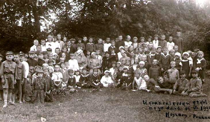 Szkoła w garnizonie.  Rok 1934