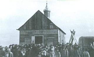 Poświęcenie nowej cerkwi. W uroczystości wzięli udział major Herbst, kapitan Deker oraz unter-oficer Otto Hanneman. 22/01/1943