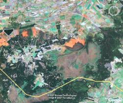 w. Horodno, po prawej - rezerwat Terebeżowsko-Kołodnianski
