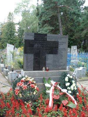 Zbiorowa mogiła ponad 100 polaków na cmentarzu prawosławnym