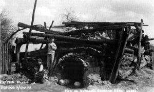 Piec garncarski tzw. horeń (fot. S. Hochman Stolin, ok. międzywojenny, ze zb. J. Szymańczyka)