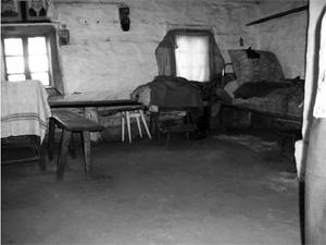 Kudricze. Izba z klepiskiem Foto A. Dobrouski