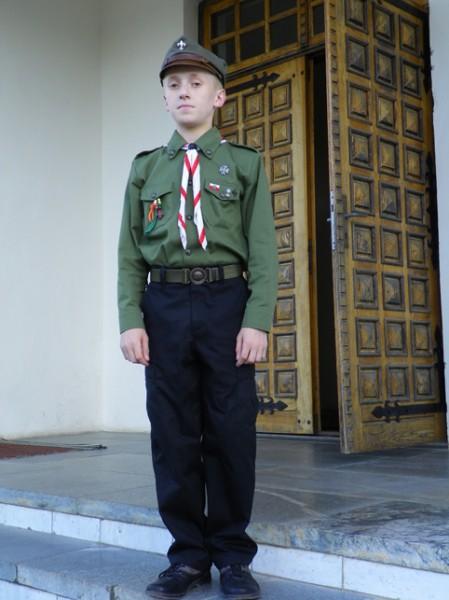 Denis, harcerz Drużyny Harcerskiej im.Feliksa Kieniewicza