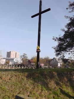 Krzyż na zbiorowej mogile