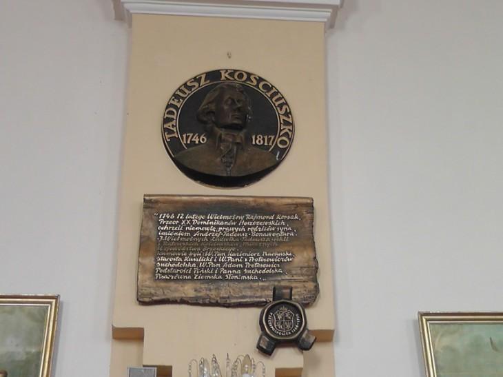 Tablica ku czci T.Kościuszki