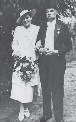 Konstanty Rdułtowski razem z żoną Zofią, 1936 rok.