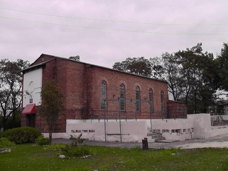 Budynek kościoła, zabrany pod Dom Kultury w Dawidgródku