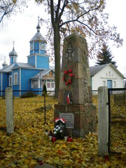 kwatera zolnierzy z wojny polsko-bolszewickiej przy cerkwi