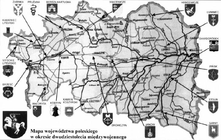 Mapa Polesia
