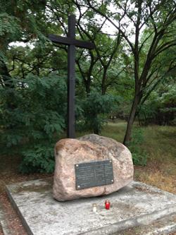 pomnik w miescu gdzie mieszkal ostatni dyktator powstania styczniowego R. Traugutt
