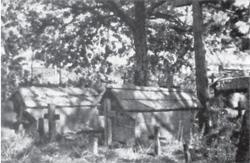"""Gdzie sterczy mała chatka nad każdą mogiłą (fot. """"Polesie"""", F.A. Ossendowski, s. 15)"""