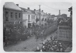 Defilada wojskowa w Brześciu w latach 1930-ch.