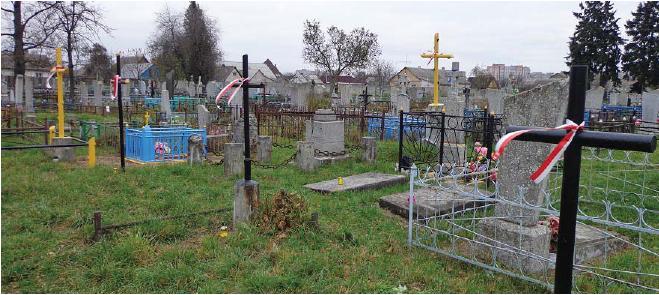 Pozostałości po cmentarzu garnizonowym.