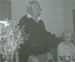 Waleria i Janek w czasie spotkania z rodakami w Klubie Polskim w Brześciu; czerwiec 2007 r.