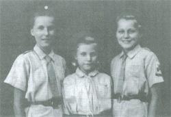 Maria, Anna i Zofia Gordziejko. Isfahan - Persja 1944 r.