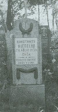 Fragment cmentarza w Juszkiewiczach