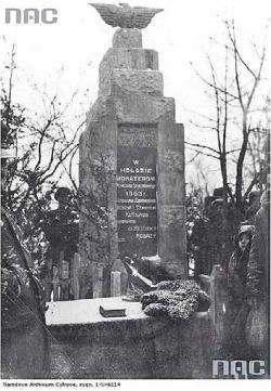 Odsłonięcie pomnika w Szołomiczach, 1933 rok.