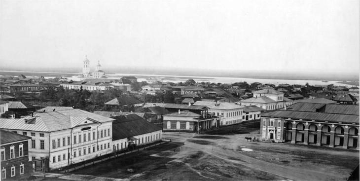 Irkuck w XIX wieku źródło :  http://en.wikipedia.org/wiki/Irkutsk#mediaviewer/File:Irkutsk_1865.jpg