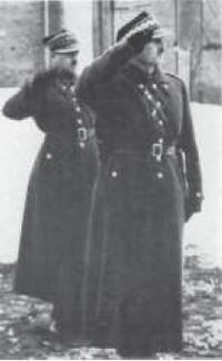 Baranowicze. 13 lutego 1937 r. General Anders przyjmuje defiladę ułanów po przysiędze