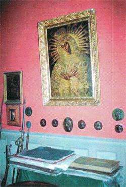 Gabinet Ignacego Domeyki z obrazem Matki Boskiej Ostrobramskiej