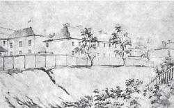 Szpital w Kobryniu. Rys. Napoleona Ordy