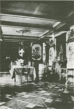 Salon w domu Domeyki w Santiago de Chile