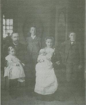 Kazimierz Domeyko z żoną i dziećmi