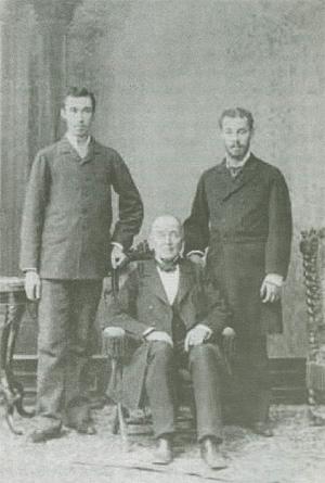 Ignacy Domeyko z synami Hemanem i Kazimierzem