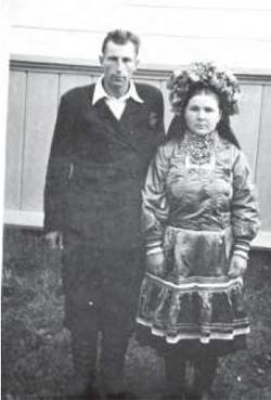 Wieś Korocicze, r-n Stoliński, lata 40-te. Zarch. G.Szpakiewicz