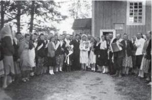 Wieś Wakulicze, r-n Drohiczyński, lata 50-te. Z arch. L. Bycko