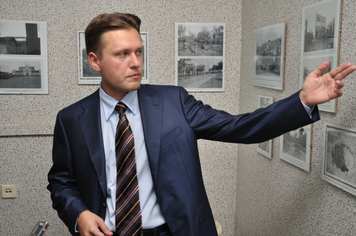 Andriej Dołgowski był przewodnikiem po wystawie