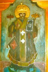 Turów, stara ikona w cerkwi pw. Wszystkich Świętych