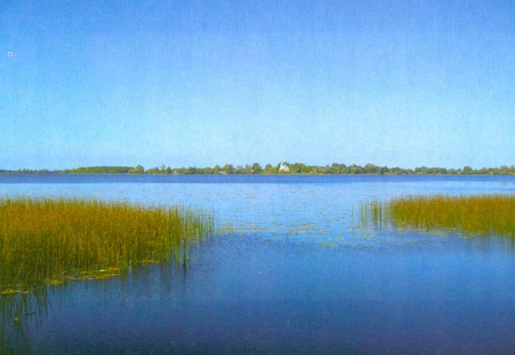 Jezioro Nobel, miejsce wyjścia Prypeci z jeziora