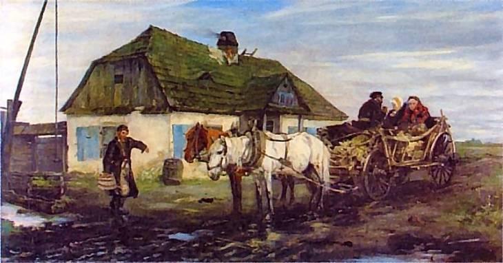 Apoloniusz Kędzierski. Żydzi przed karczmą. 1879