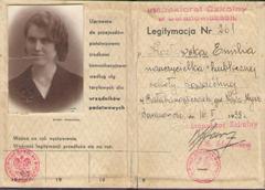 Legitymacja nauczycielska Emilii Kozłowskiej