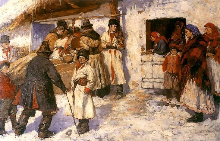 Włodzimierz Tetmajer. Przed karczmą. 1893