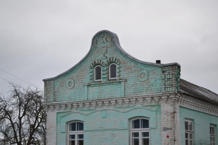 Karczma z gwiazdą Dawida na fasadzie w Mołczadzi