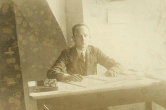 Józef Sieradzki w drukarni