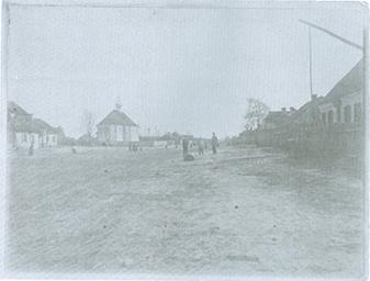 Widok na plac centralny w. Wołczyn, przed 1900 r.