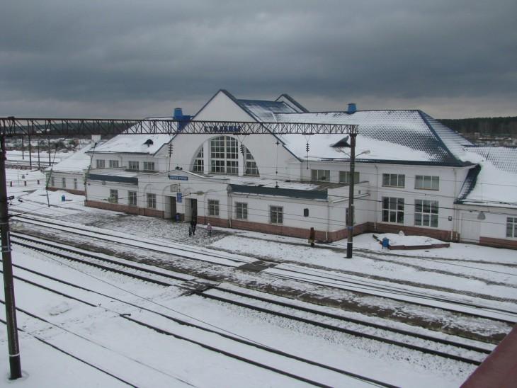 Dworzec kolejowy w Stołpcach