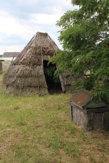 W takich szałasach (kureniach) Poleszucy mieszkali od wiosny do jesieni na bagnach
