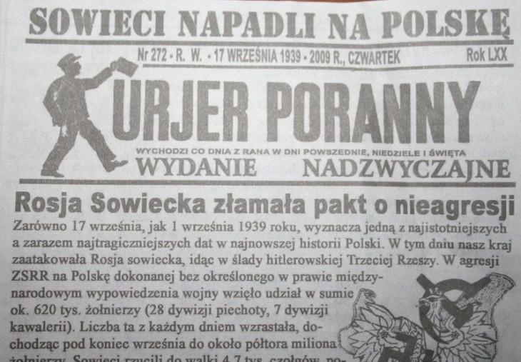 Kurier Poranny z dn 17 września 1939r.