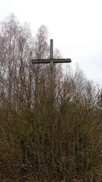 Stary krzyż w zaroślach